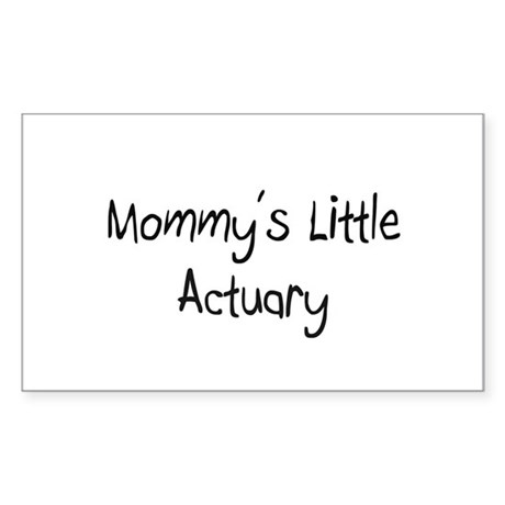 Mommy's Little Actuary Rectangle Sticker