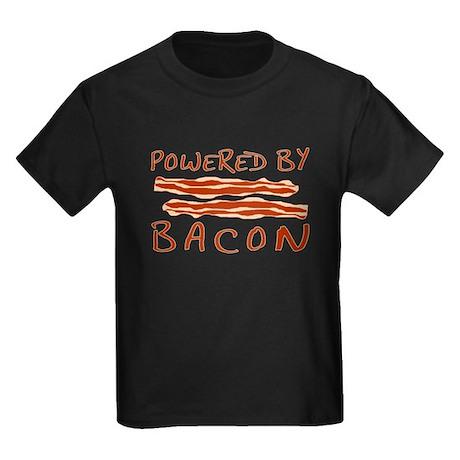 Powered By Bacon Kids Dark T-Shirt