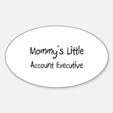 Mommy's Little Account Executive Oval Decal