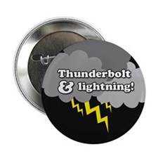 "Thunderbolt & Lightening 2.25"" Button"