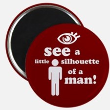 Silhouette of a Man Magnet