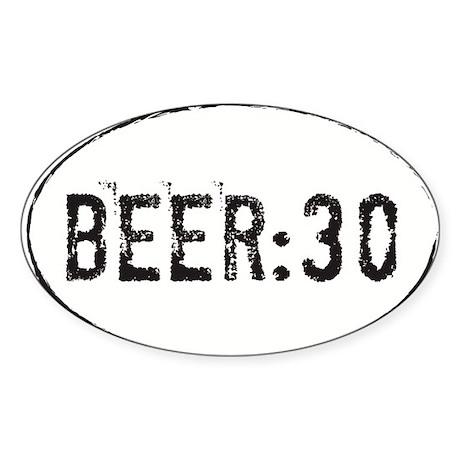 Beer:30 Oval Sticker