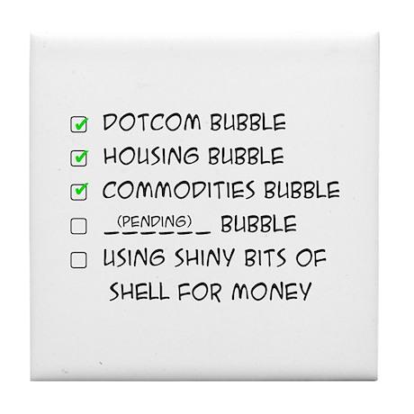 Bubble Economics Tile Coaster