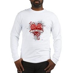 Heart Finland Long Sleeve T-Shirt