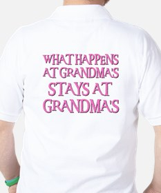 STAYS AT GRANDMA'S (pnk) T-Shirt