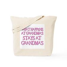 STAYS AT GRANDMA'S (pnk) Tote Bag