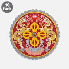 BHUTAN 3.5 Button (10 pack)