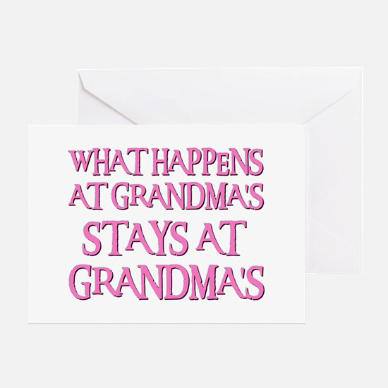 STAYS AT GRANDMA'S (pnk) Greeting Card