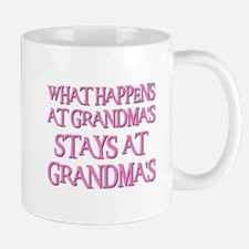 STAYS AT GRANDMA'S (pnk) Small Small Mug