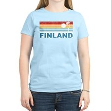 Vintage Palm Tree Finland T-Shirt