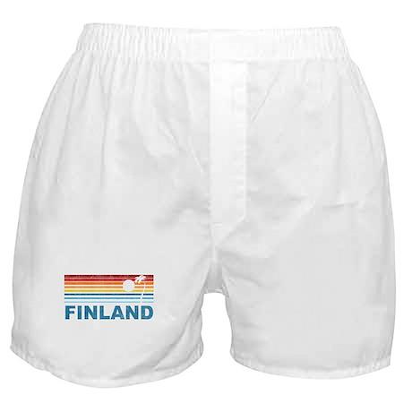 Vintage Palm Tree Finland Boxer Shorts
