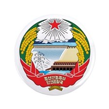 NORTH KOREA 3.5 Button (100 pack)