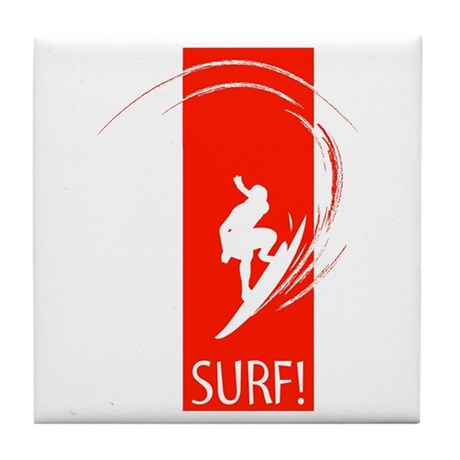 SURF! Tile Coaster