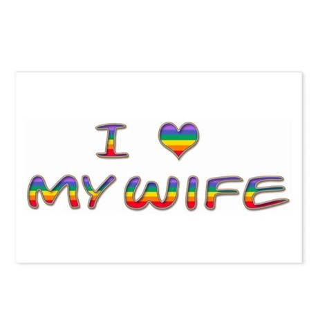 I Heart My Wife Postcards (Package of 8)