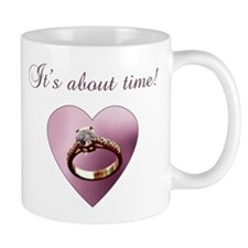 About Time Engagement Mug