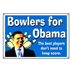 Bowlers for Obama campaign banner