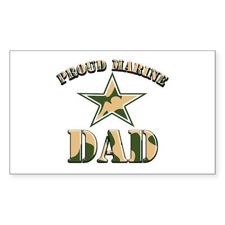 Proud Marine Dad Rectangle Sticker