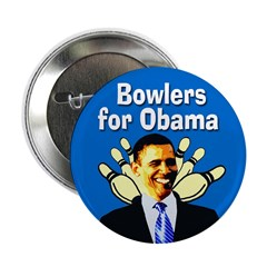 Bowlers for Obama campaign button