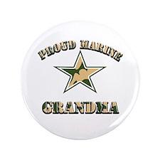 "Proud Marine Grandma 3.5"" Button"