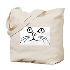 2 cat faces Tote Bag