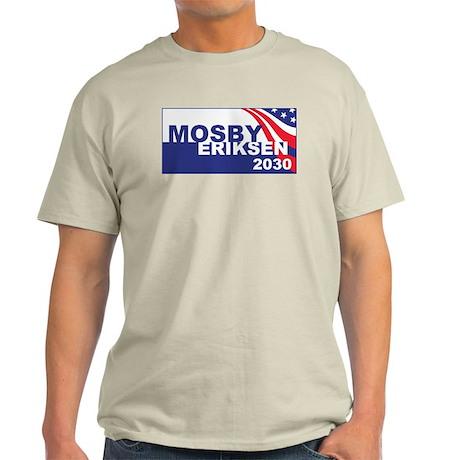 Vote Mosby Ericksen in 2030 Light T-Shirt