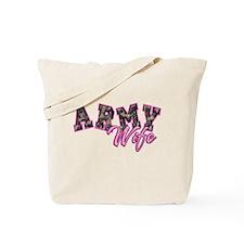 Army Wife Ol School Camo Tote Bag