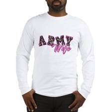 Army Wife Ol School Camo Long Sleeve T-Shirt