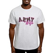 Army Wife Ol School Camo T-Shirt