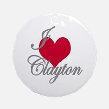 I love (heart) Clayton Ornament (Round)