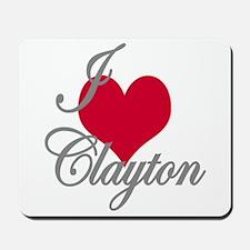 I love (heart) Clayton Mousepad