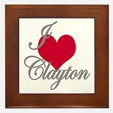 I love (heart) Clayton Framed Tile