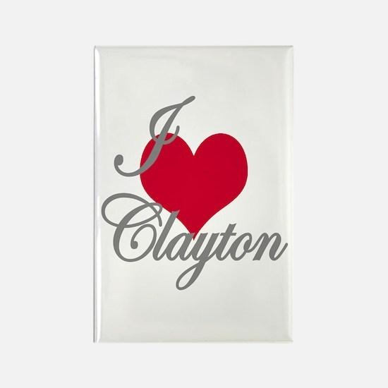 I love (heart) Clayton Rectangle Magnet