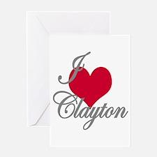 I love (heart) Clayton Greeting Card