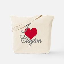 I love (heart) Clayton Tote Bag