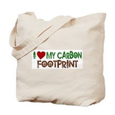 I Love My Carbon Footprint Tote Bag