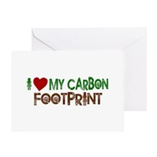 I Love My Carbon Footprint Greeting Card