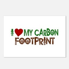 I Love My Carbon Footprint Postcards (Package of 8