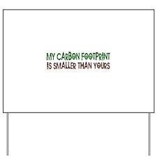 Small Carbon Footprint Yard Sign