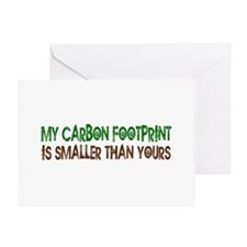 Small Carbon Footprint Greeting Card