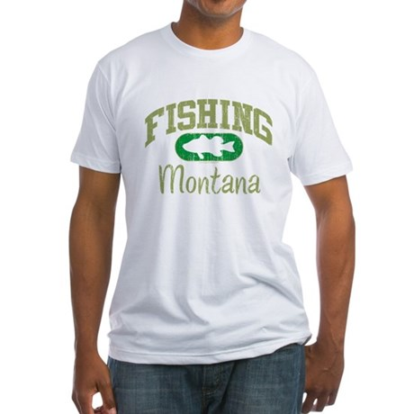 FISHING MONTANA Fitted T-Shirt
