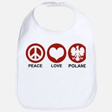 Peace Love Poland Bib