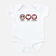 Peace Love Poland Infant Bodysuit