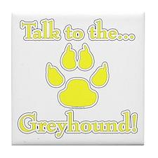 Grey Talk Yellow Tile Coaster