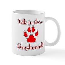 Grey Talk Red Mug