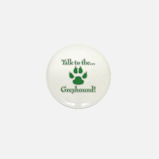Grey Talk Green Mini Button