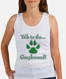 Grey Talk Green Women's Tank Top