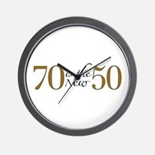 70 is the new 50 Wall Clock