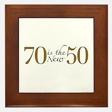 70 is the new 50 Framed Tile
