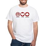Peace love Canada White T-Shirt