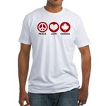 Peace love Canada Fitted T-Shirt